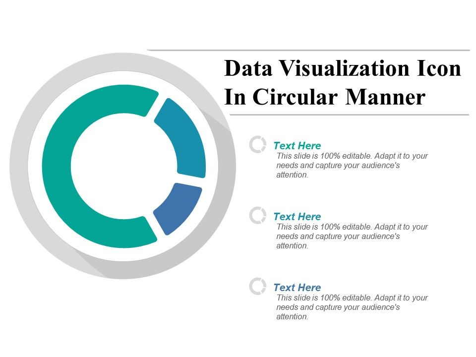 Data Visualization Icon In Circular Manner Powerpoint Templates