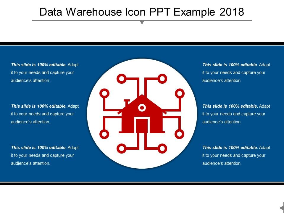 Data Warehouse Icon Ppt Example 2018 | PowerPoint Slides Diagrams