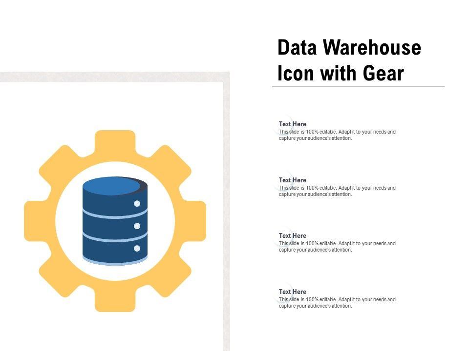 Data Warehouse Icon With Gear