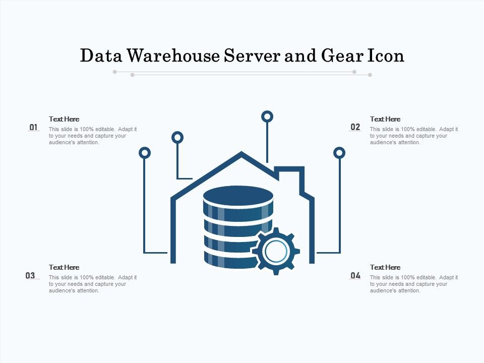 Data Warehouse Server And Gear Icon