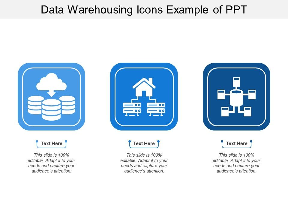 Data Warehousing Icons Example Of Ppt   PowerPoint Slide