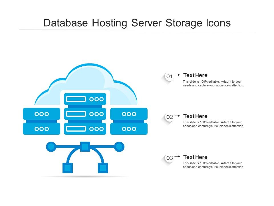 Database Hosting Server Storage Icons