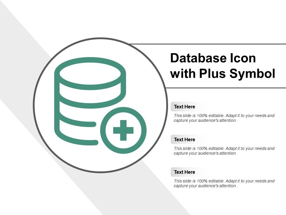 Database Icon With Plus Symbol