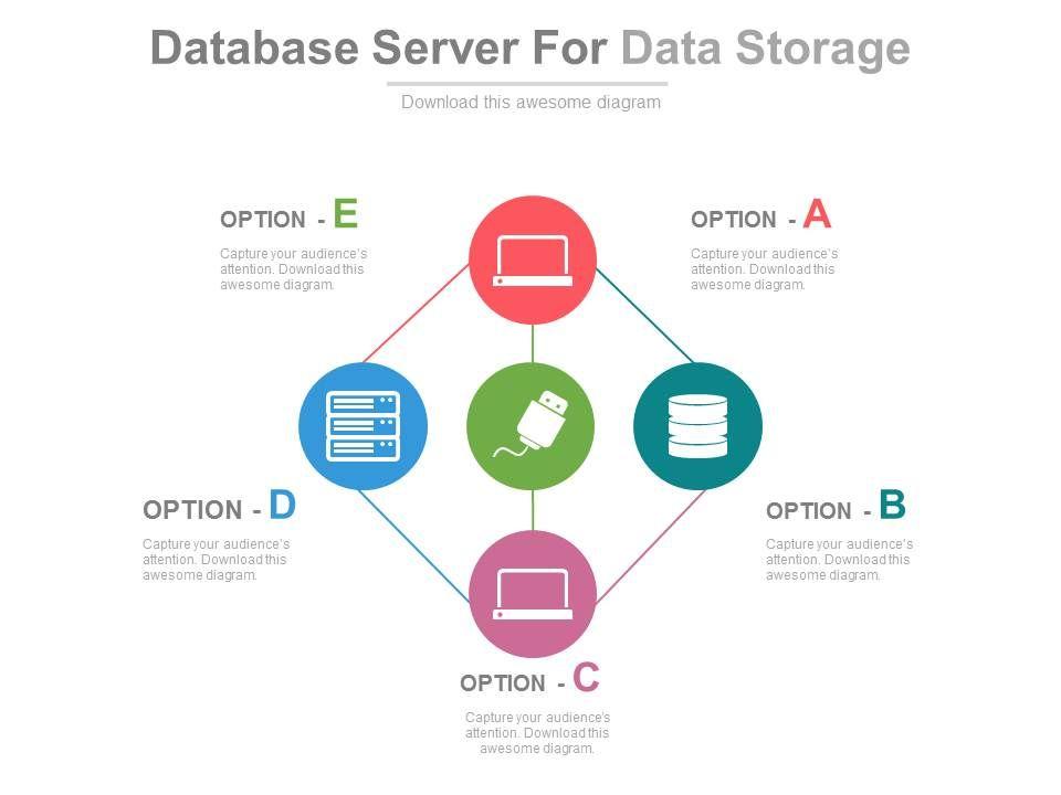 database_server_for_data_storage_and_management_flat_powerpoint_design_Slide01