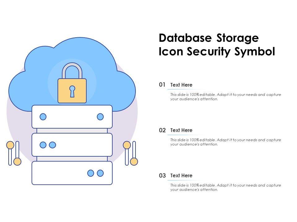 Database Storage Icon Security Symbol