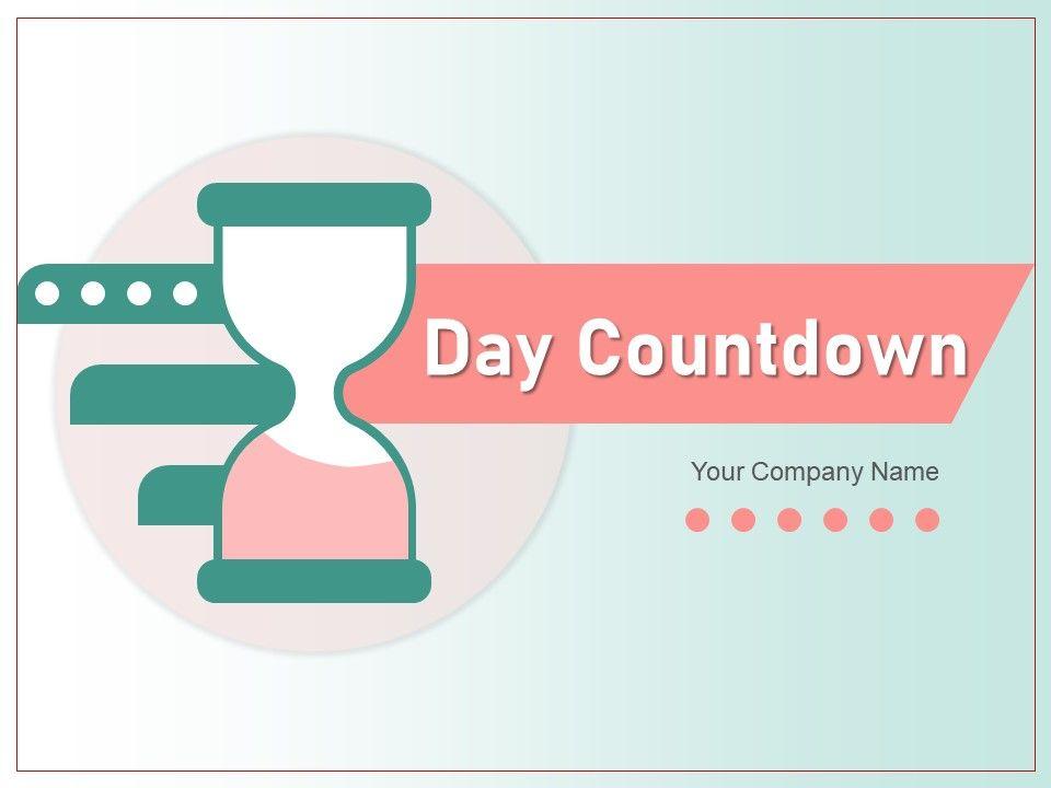 Day Countdown Hourglass Calendar Showing Alarm Clock