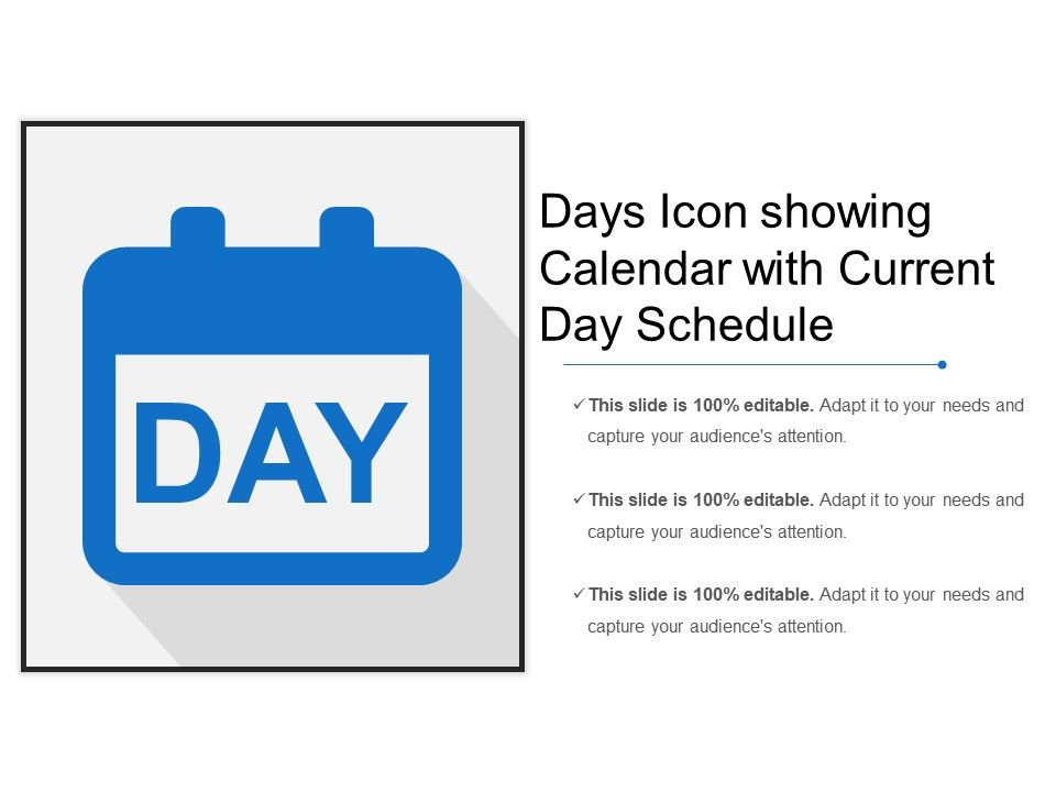 Calendar Days Icon.Days Icon Showing Calendar With Current Day Schedule Templates