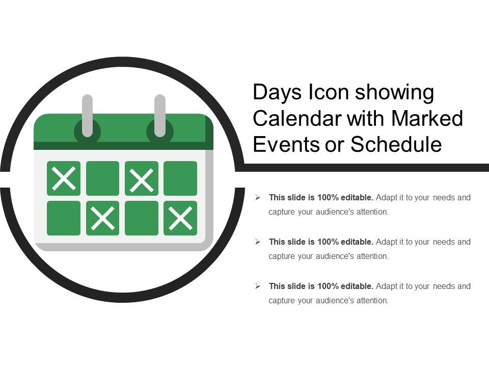 Calendar Days Icon.Days Icon Showing Calendar With Marked Events Or Schedule