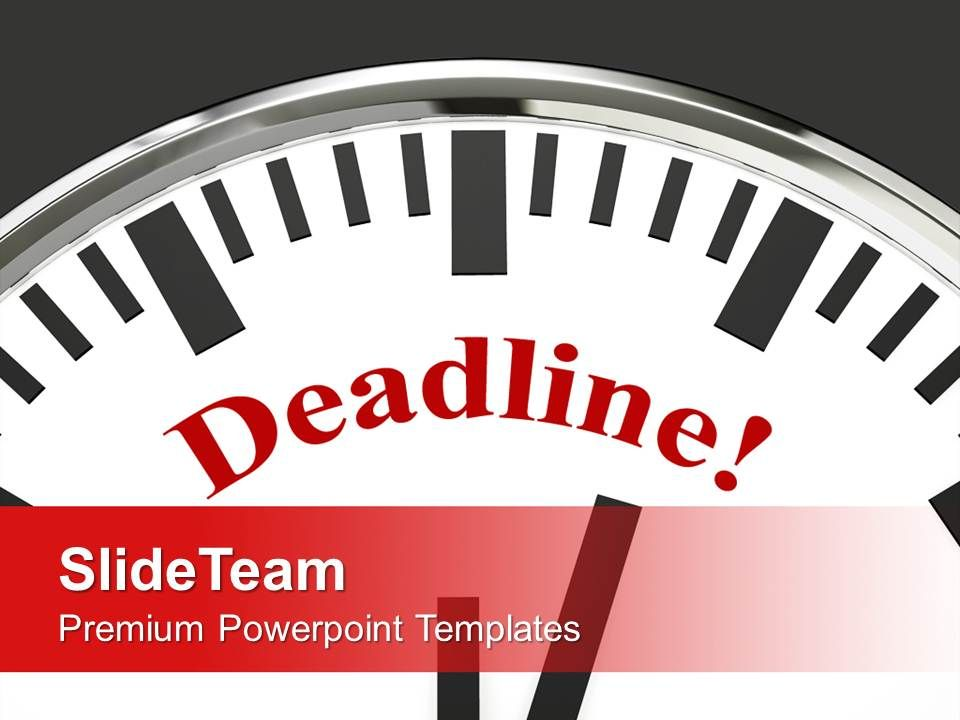deadline business meeting powerpoint templates ppt themes and
