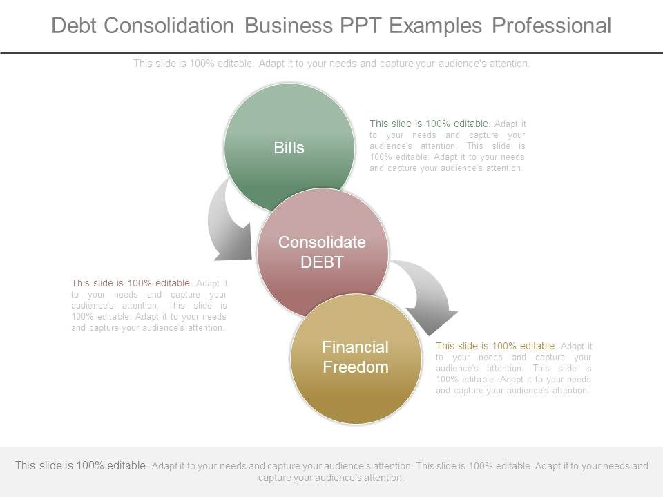 debt consolidation business ppt examples professional powerpoint