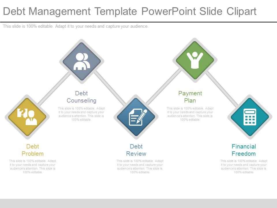 debt management template powerpoint slide clipart presentation