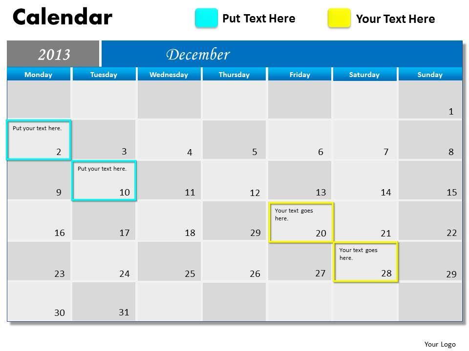 december_2013_calendar_powerpoint_slides_ppt_templates_Slide01