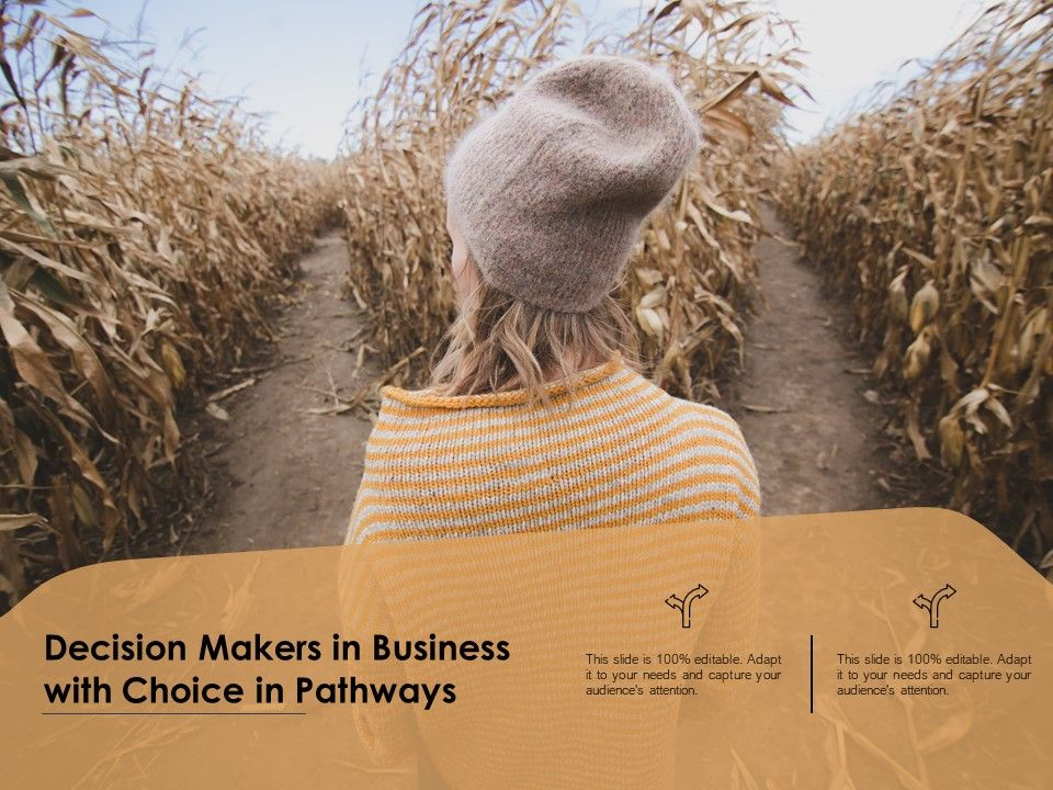 Decision Makers In Business With Choice In Pathways