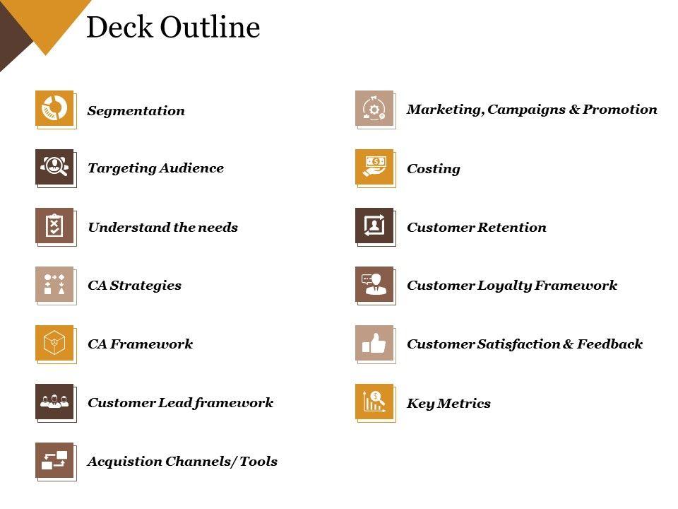 Deck Outline Powerpoint Templates Microsoft Powerpoint