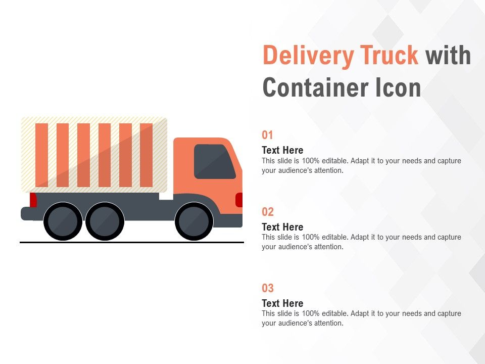 Delivery Truck With Container Icon
