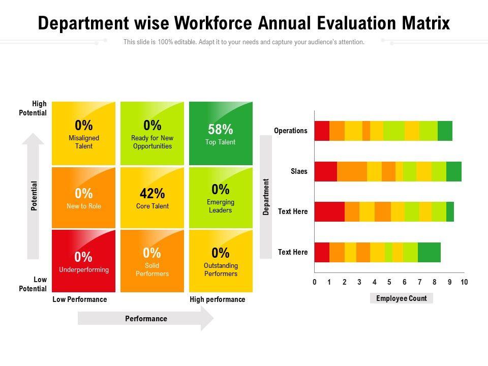 Department Wise Workforce Annual Evaluation Matrix
