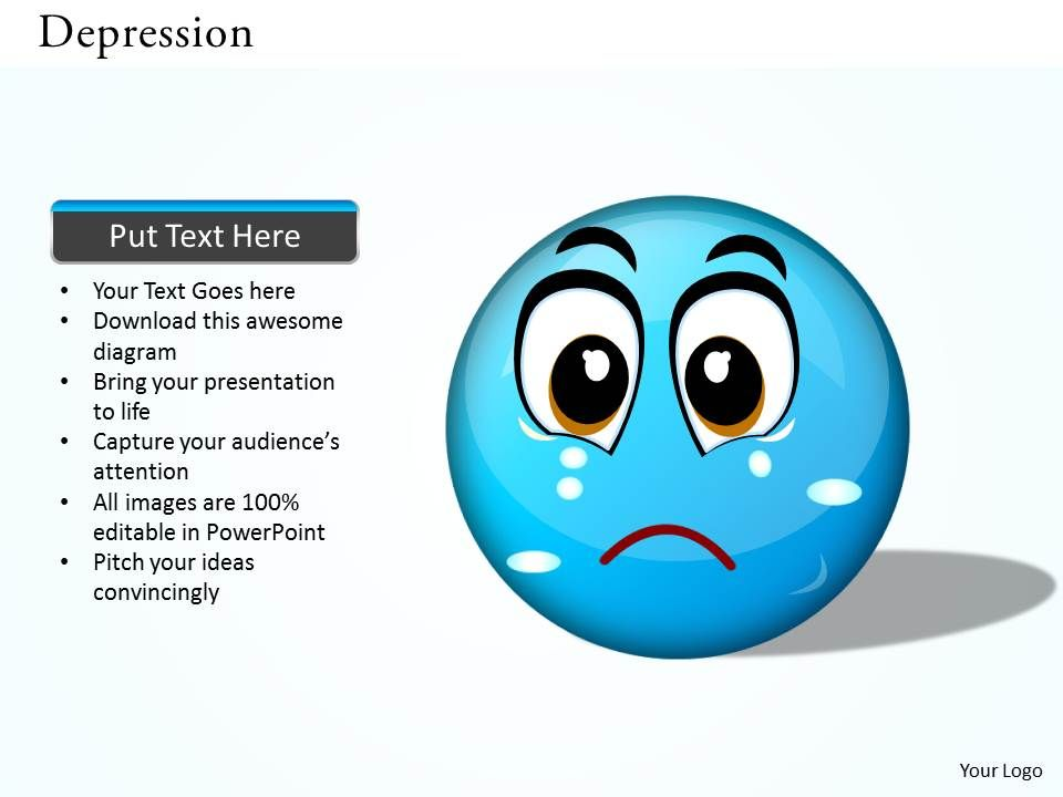 depression powerpoint template slide powerpoint shapes