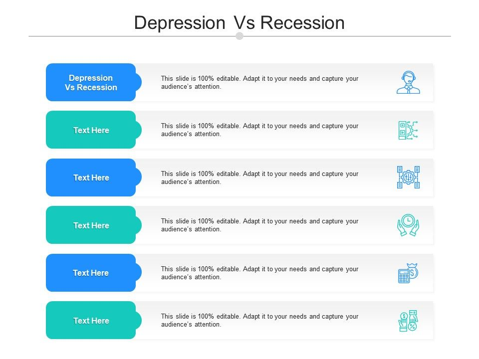 Depression Vs Recession Ppt Powerpoint Presentation Layouts Tips Cpb