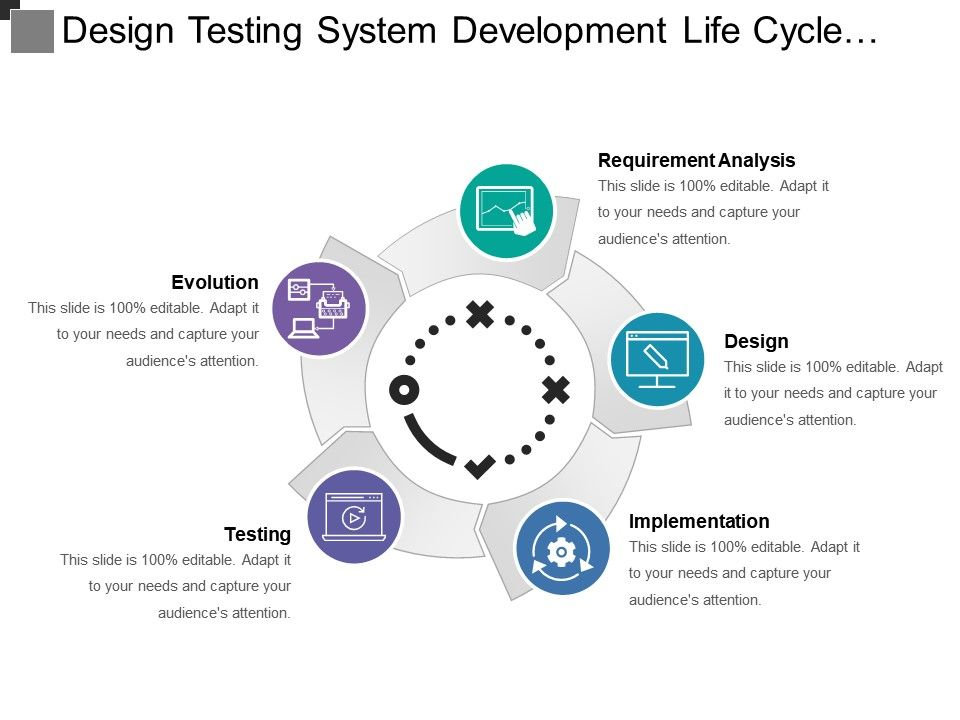 design_testing_system_development_life_cycle_with_icons_Slide01