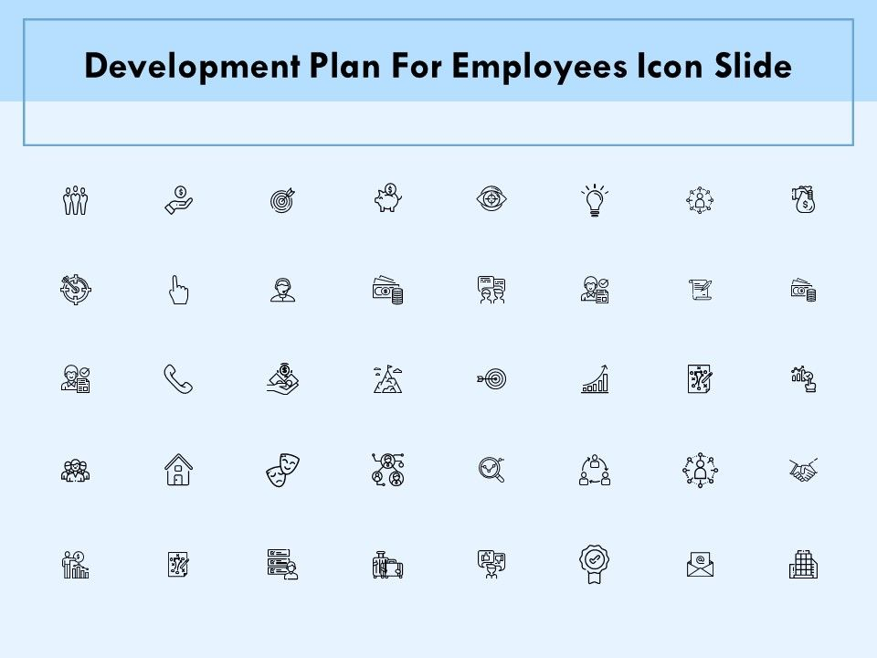 Development Plan For Employees Icon Slide Technology Ppt Powerpoint