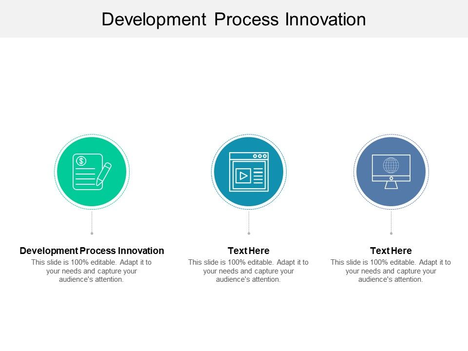 Development Process Innovation Ppt Powerpoint Presentation Portfolio Example Introduction Cpb