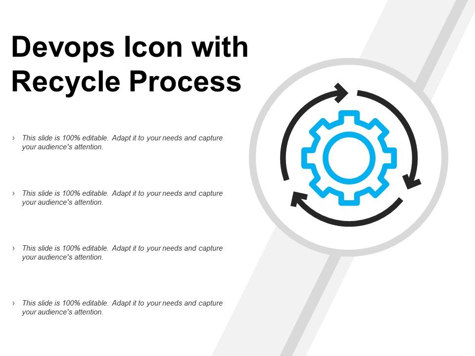 Devops Icon With Recycle Process
