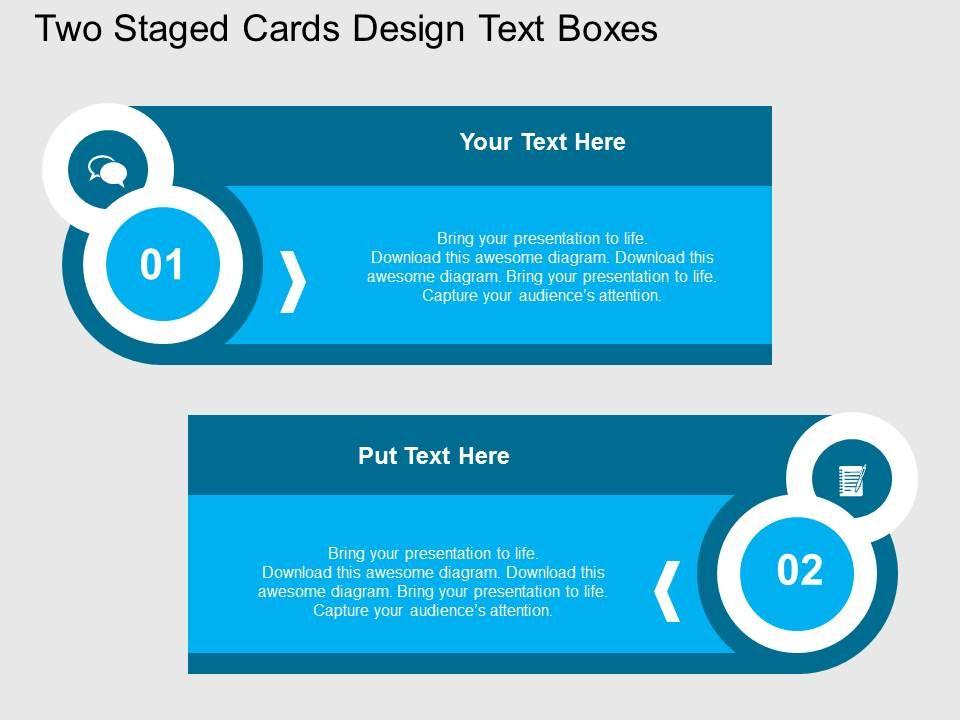 award winning sales slides showing dg two staged cards design text