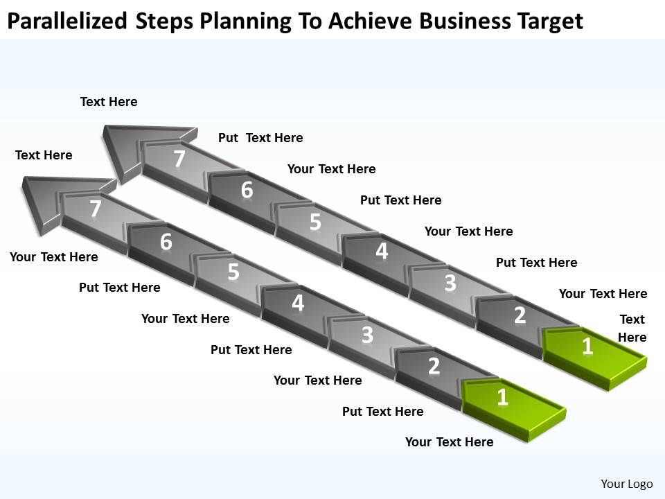 diagram_of_business_cycle_parallelized_steps_planning_to_achieve_target_powerpoint_slides_Slide02