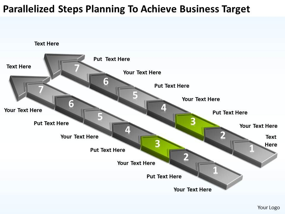 diagram_of_business_cycle_parallelized_steps_planning_to_achieve_target_powerpoint_slides_Slide04