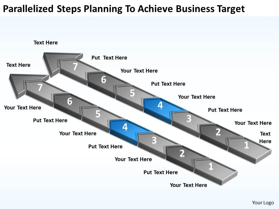 diagram_of_business_cycle_parallelized_steps_planning_to_achieve_target_powerpoint_slides_Slide05