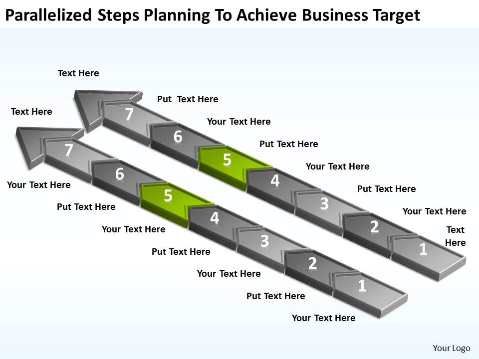 diagram_of_business_cycle_parallelized_steps_planning_to_achieve_target_powerpoint_slides_Slide06