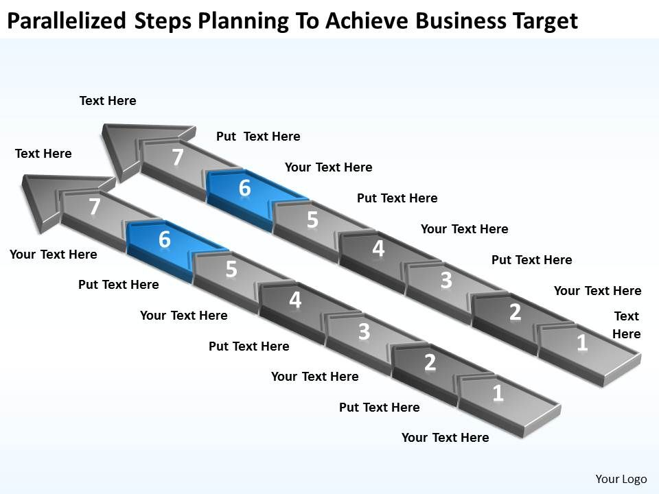 diagram_of_business_cycle_parallelized_steps_planning_to_achieve_target_powerpoint_slides_Slide07