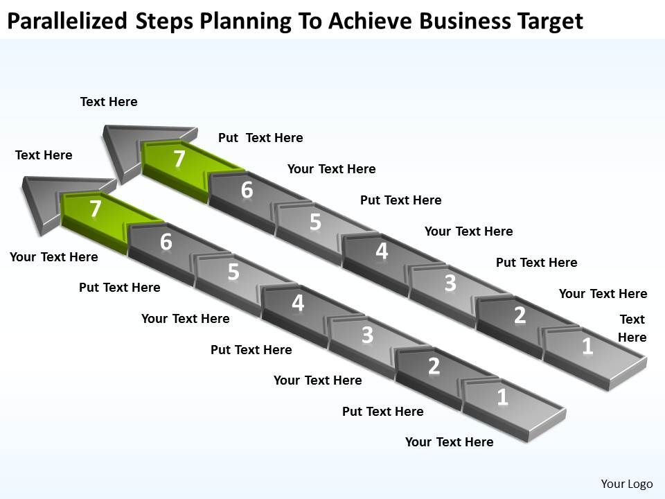 diagram_of_business_cycle_parallelized_steps_planning_to_achieve_target_powerpoint_slides_Slide08