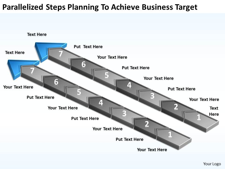 diagram_of_business_cycle_parallelized_steps_planning_to_achieve_target_powerpoint_slides_Slide09