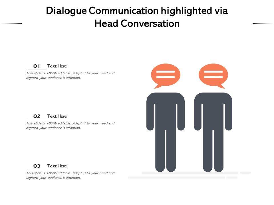 Dialogue Communication Highlighted Via Head Conversation