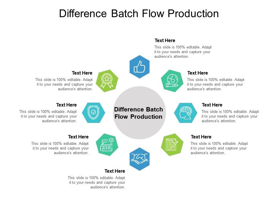 Difference Batch Flow Production Ppt Powerpoint Presentation Show Clipart Cpb