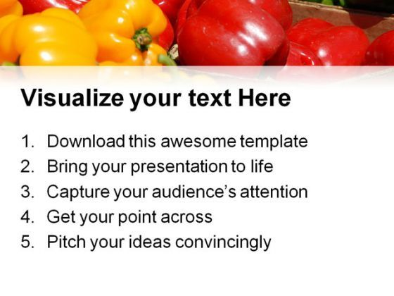 Different Capsicums Food Powerpoint Templates And Powerpoint