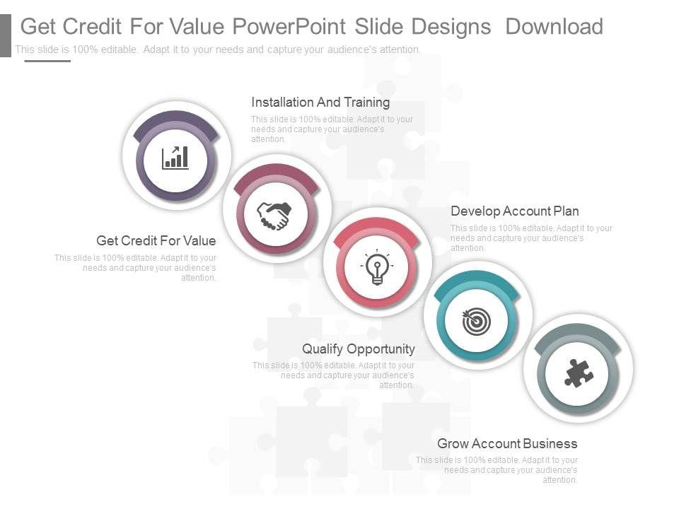 different_get_credit_for_value_powerpoint_slide_designs_download_Slide01