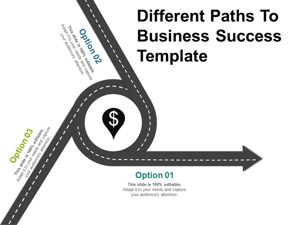 different_paths_to_business_success_template_powerpoint_show_Slide01