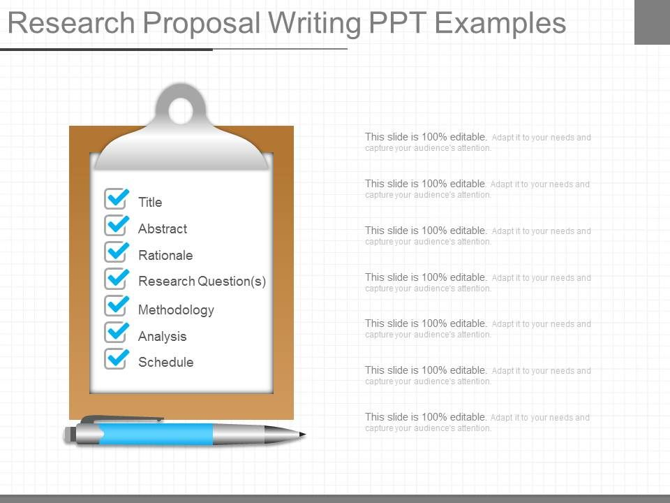 Different Research Proposal Writing Ppt Examples   Template