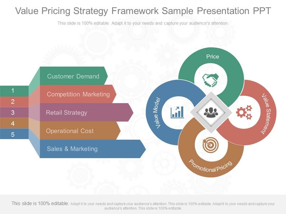 Different Value Pricing Strategy Framework Sample Presentation Ppt - Sample marketing presentation ppt