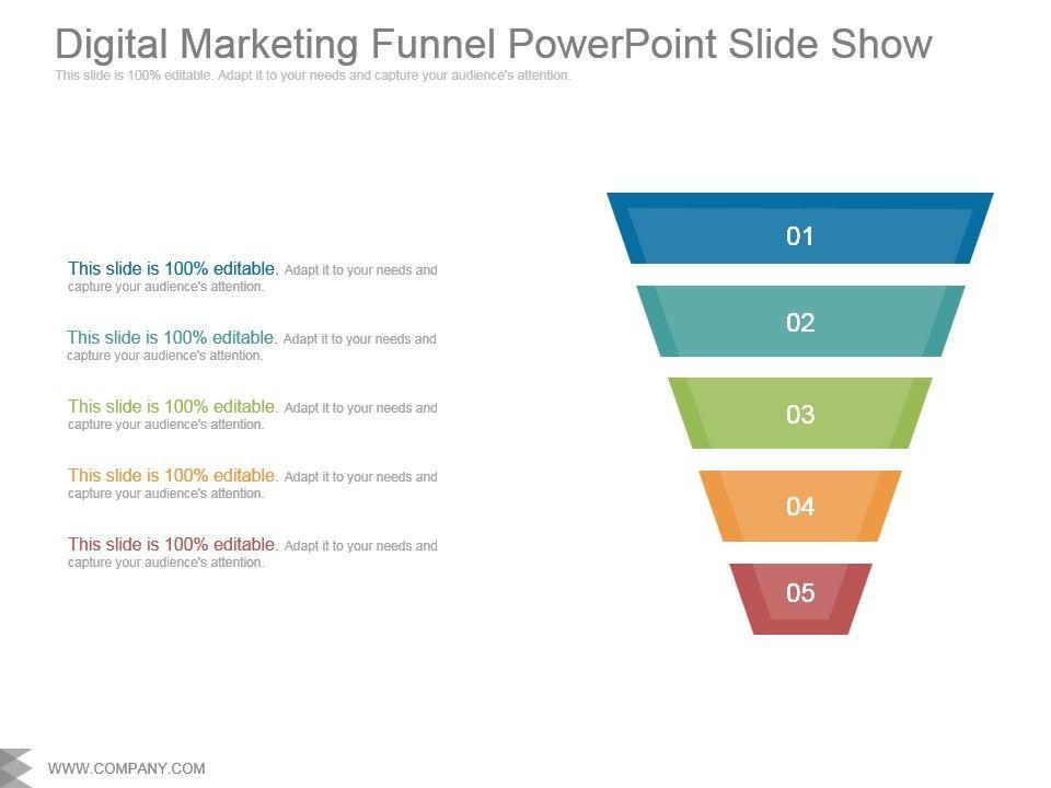 Digital Marketing Funnel Powerpoint Slide Show Powerpoint