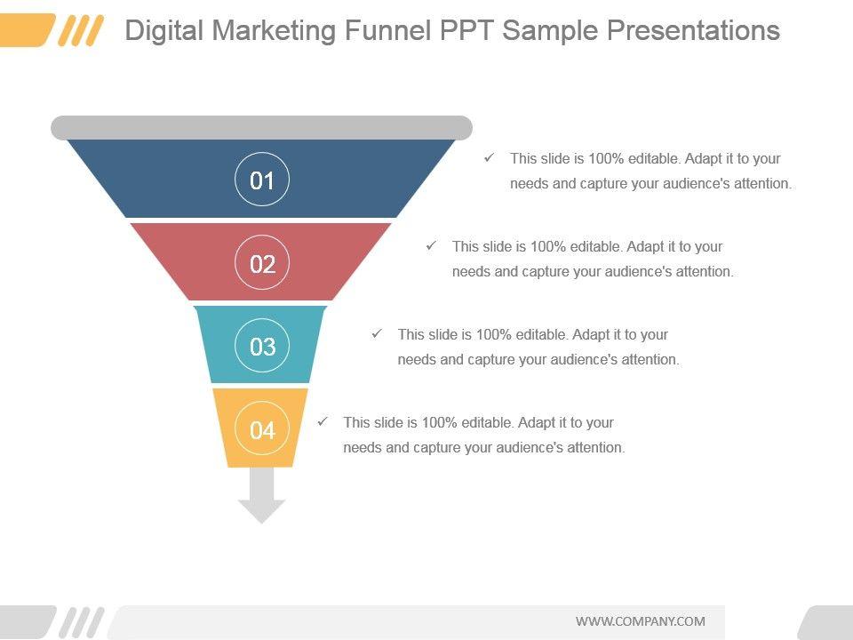 Digital Marketing Funnel Ppt Sample Presentations | PowerPoint Slide