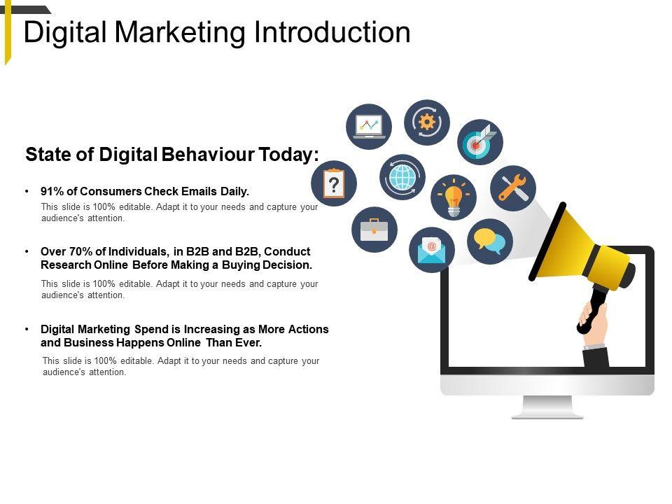 Digital Marketing Introduction Powerpoint Ideas | PowerPoint Slide