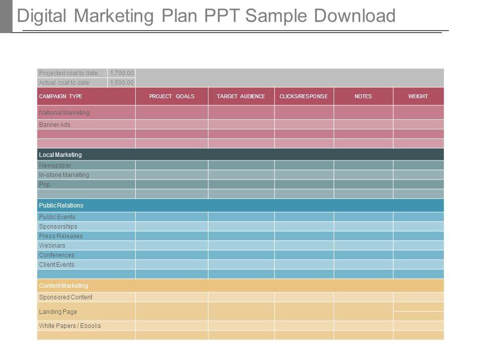 Digital Marketing Plan Ppt Sample Download Slide01 Slide02 Slide03