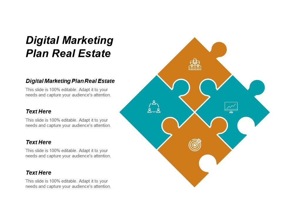 Digital Marketing Plan Real Estate Ppt Powerpoint