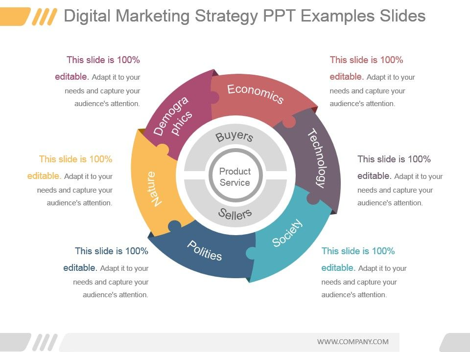 Digital Marketing Strategy Ppt Examples Slides