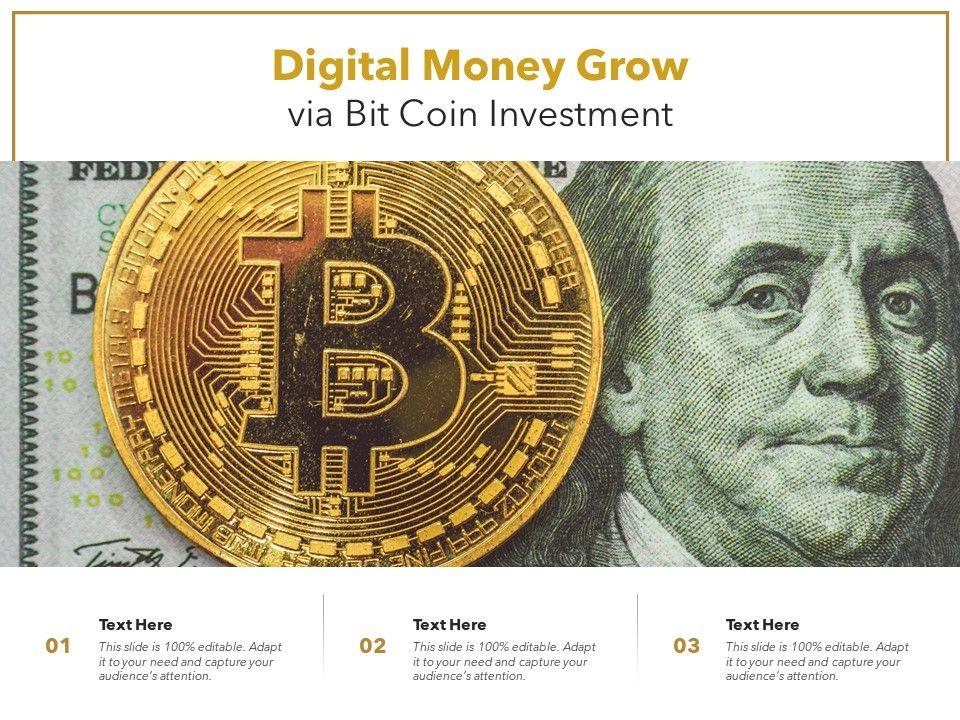 Digital Money Grow Via Bit Coin Investment