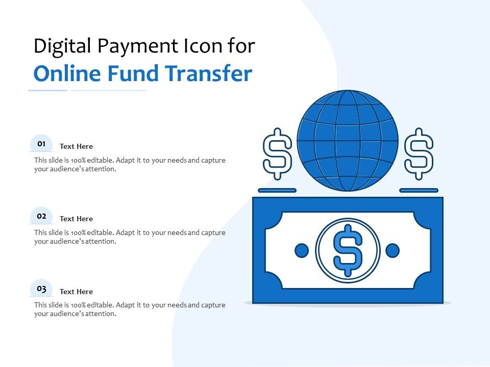 Digital Payment Icon For Online Fund Transfer