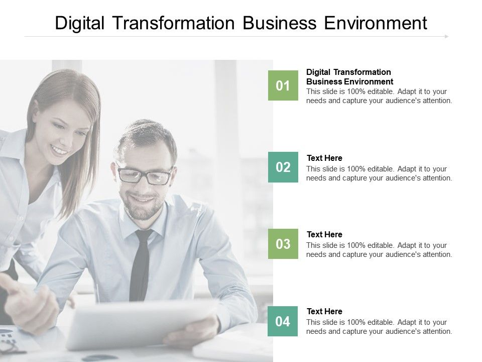 Digital Transformation Business Environment Ppt Powerpoint Presentation Background Cpb